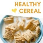 Blue bowl of breakfast cereal